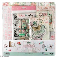 Kit déco Scrapbooking Toga - Shabby love