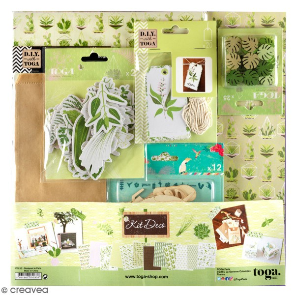 Kit déco Scrapbooking Toga - Oh my green - Photo n°1