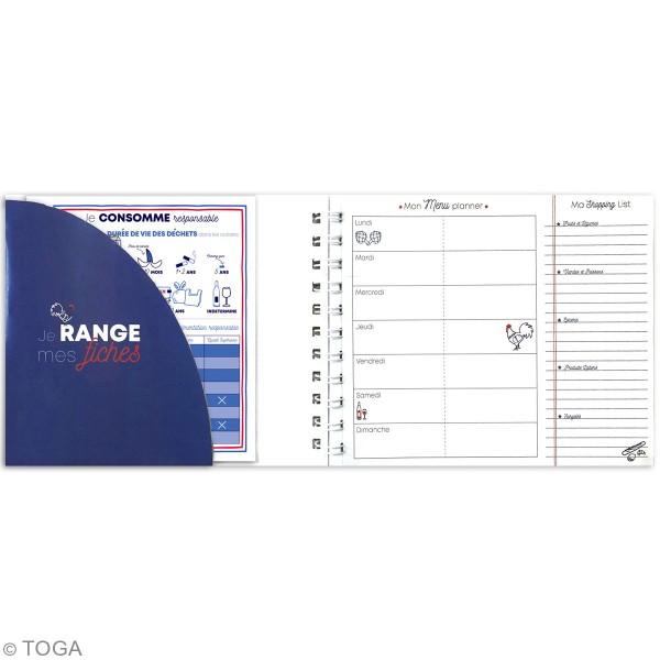 Carnet Planner - Menu planner - 19 x 15 cm - 52 pages - Photo n°4