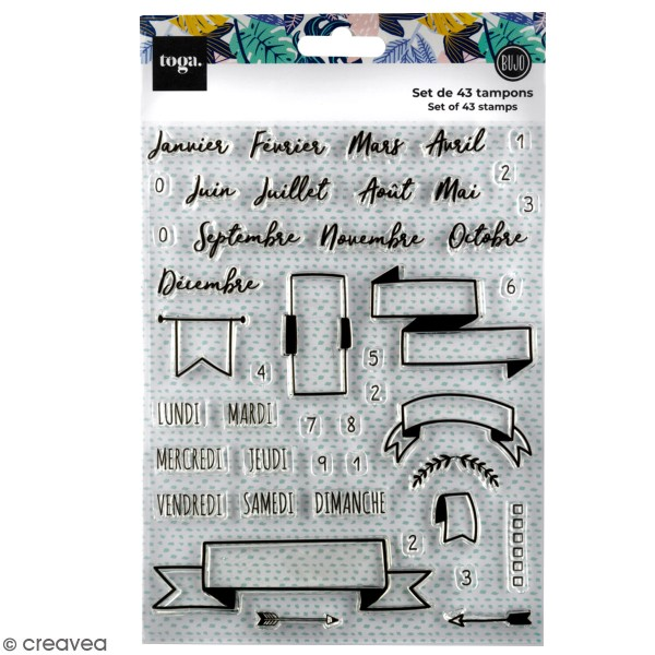 Tampon clear Toga - Planner - 43 pcs - Photo n°1