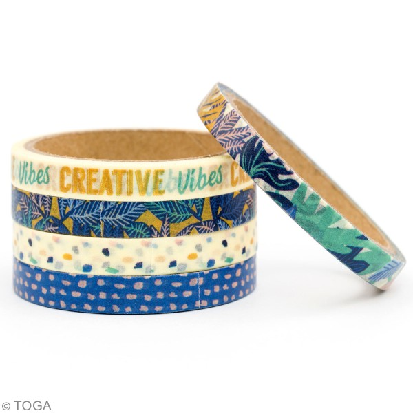 Masking tape Toga - Jungle vibes - 5 rouleaux - Photo n°3
