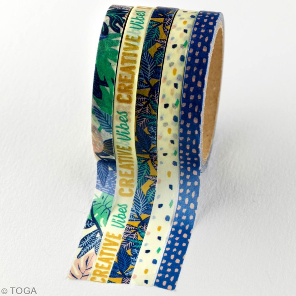 Masking tape Toga - Jungle vibes - 5 rouleaux - Photo n°4