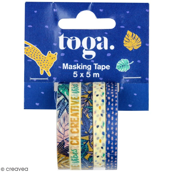 Masking tape Toga - Jungle vibes - 5 rouleaux - Photo n°1