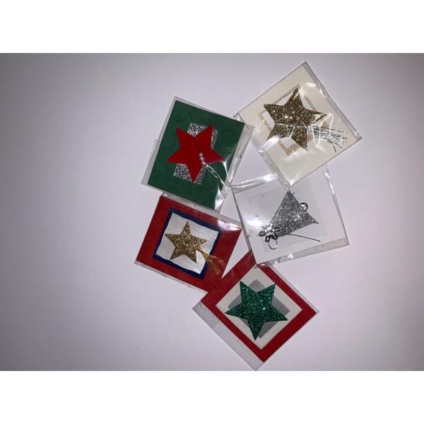 Lot de 5 étiquette cadeaux - Photo n°1