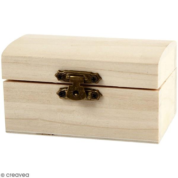 Petite boîte coffre en bois à décorer - 9 x 5,2 x 4,9 cm - Photo n°3