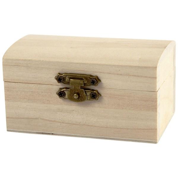 Petite boîte coffre en bois à décorer - 9 x 5,2 x 4,9 cm - Photo n°1