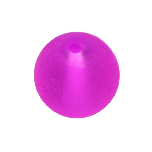 30 x Perle en Verre Givré 10mm Jaune Fluo