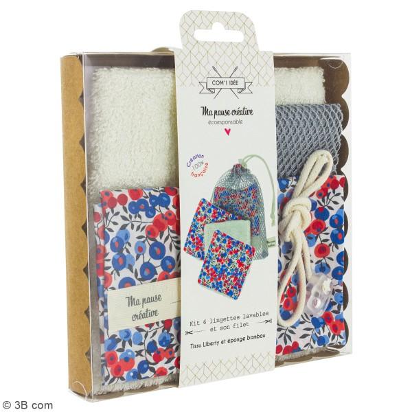 Kit couture - Lingettes lavables et filet - Tissus Liberty - 7 pcs - Photo n°4