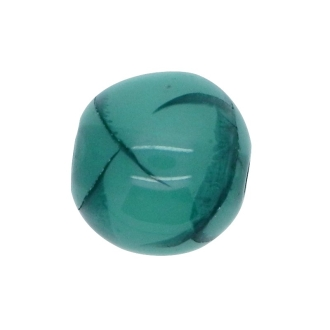 10 x Perle Résine Ronde Translucide Bleu Cyan
