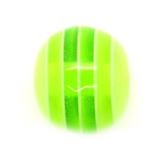 10 x Perle Résine Ovale Transparent Rayé Citron Vert