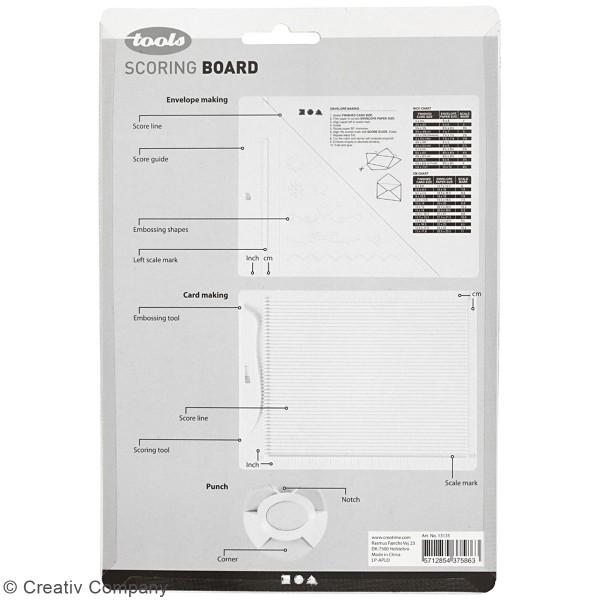 Kit de création enveloppe et carte avec perforatrice Creotime - 3 pcs - Photo n°3