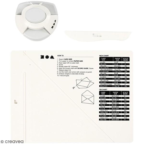 Kit de création enveloppe et carte avec perforatrice Creotime - 3 pcs - Photo n°1