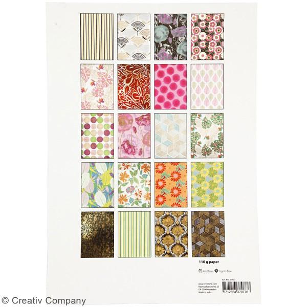 Bloc de papier en relief et fait main - A4 - Jungle luxuriante - 20 pcs - Photo n°5