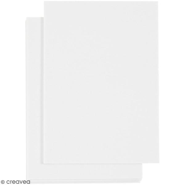 Feuille mousse adhésive double face blanc - 10,5 x 14,8 cm - 5 Pcs - Photo n°1
