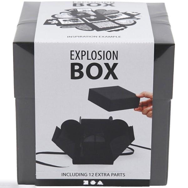 Boite à explosion - Noir - 12 x 12 x 12 cm - Photo n°2