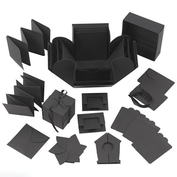 Boite à explosion - Noir - 12 x 12 x 12 cm - Photo n°1