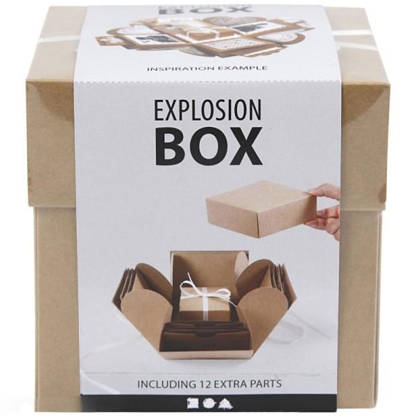 Boite à explosion - Naturelle - 12 x 12 x 12 cm - Photo n°2