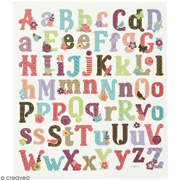 Stickers Creotime - Alphabet - 59 pcs environ - Photo n°1