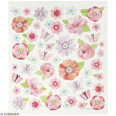 Stickers Creotime - Fleurs de printemps - 40 pcs environ