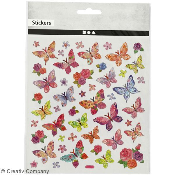 Stickers Creotime - Papillons - 28 pcs environ - Photo n°2