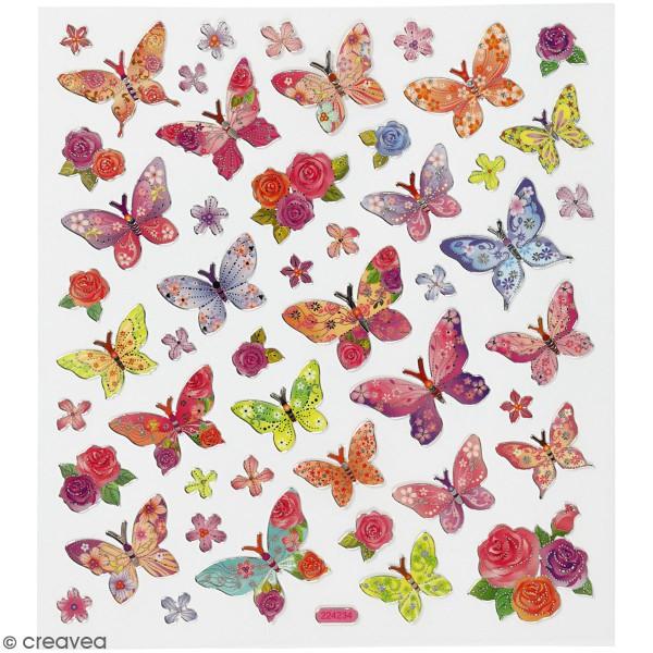Stickers Creotime - Papillons - 28 pcs environ - Photo n°1