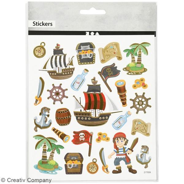 Stickers Creotime - Pirates - 26 pcs environs - Photo n°2