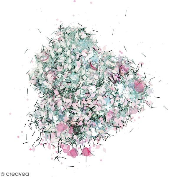 Assortiment de paillettes - Blanc Bleu Rose - 170 gr - Photo n°1