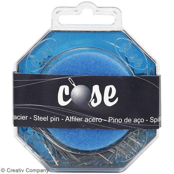 Epingles à tête argentées - Longueur 34 mm - 50 gr - Photo n°3