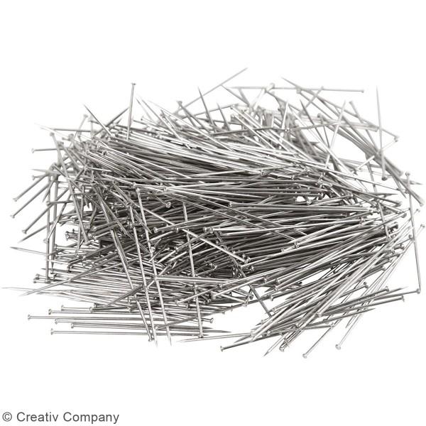 Epingles à tête argentées - Longueur 34 mm - 50 gr - Photo n°4