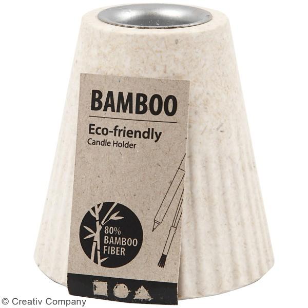 Bougeoir en bambou à décorer - 13 cm - Photo n°2