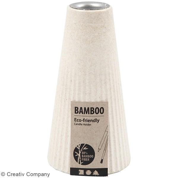 Bougeoir en bambou à décorer - 13 cm - Photo n°3