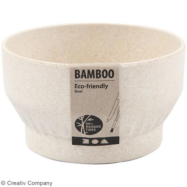 Bol en bambou à décorer - 12 x 7 cm - Photo n°2