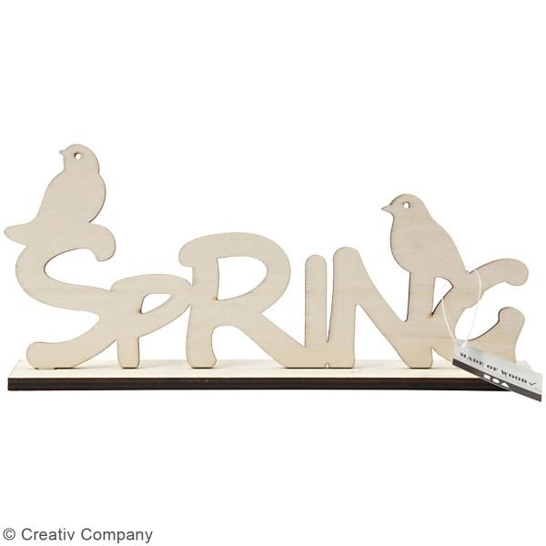 Support en bois à décorer - Printemps - 29 x 13,5 cm - Photo n°3