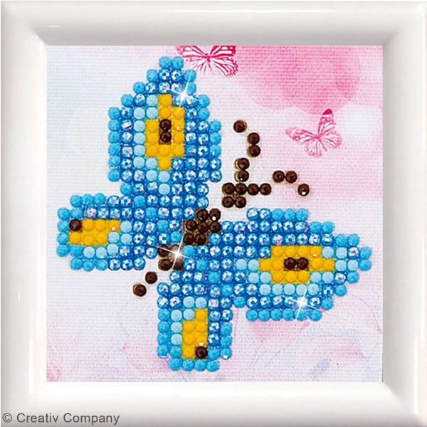 Petit Kit Diamond painting avec son cadre - Diamond Dotz - Papillon - 7,6 x 7,6 cm - Photo n°2