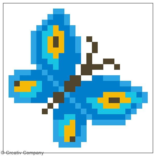 Petit Kit Diamond painting avec son cadre - Diamond Dotz - Papillon - 7,6 x 7,6 cm - Photo n°3