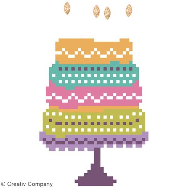 Petit Kit Carte de Voeux Diamond painting - Diamond Dotz - Happy Birthday - 17,7 x 12,6 cm - Photo n°3