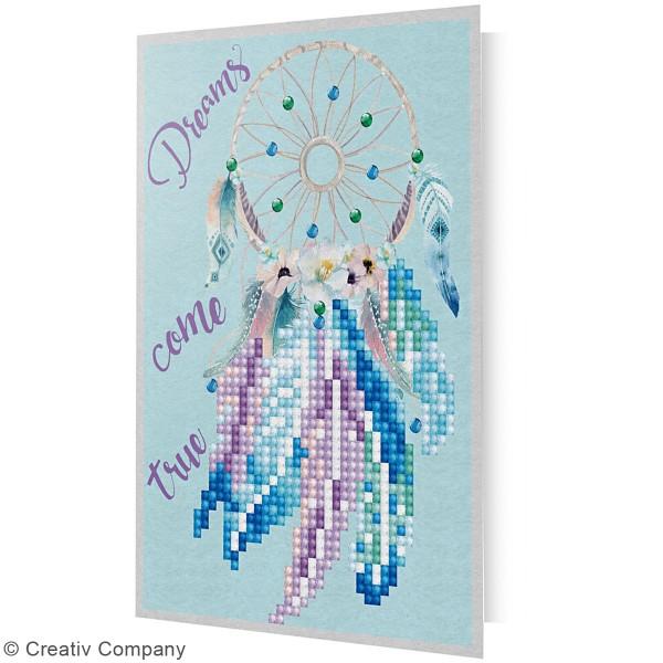 Petit Kit Carte de Voeux Diamond painting - Diamond Dotz - Attrape rêve - 17,7 x 12,6 cm - Photo n°5