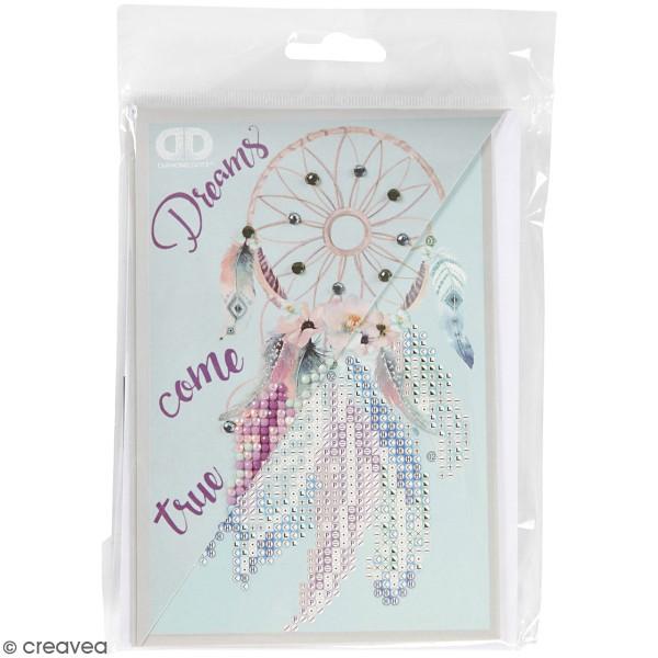 Petit Kit Carte de Voeux Diamond painting - Diamond Dotz - Attrape rêve - 17,7 x 12,6 cm - Photo n°1