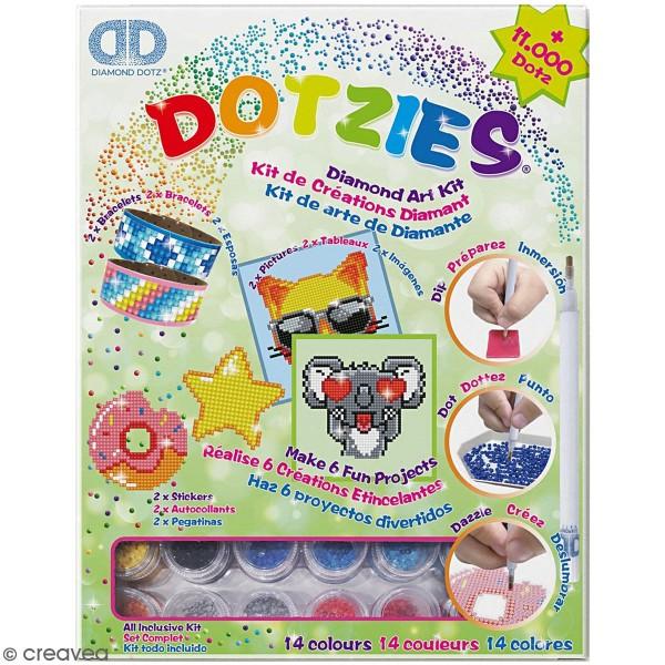 Kit multi-créations Koala Diamond painting - Diamond Dotz - 6 Pcs - Photo n°1