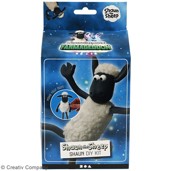 Kit activité enfant - Modelage Silk Clay  - Shaun Le Mouton - Photo n°2