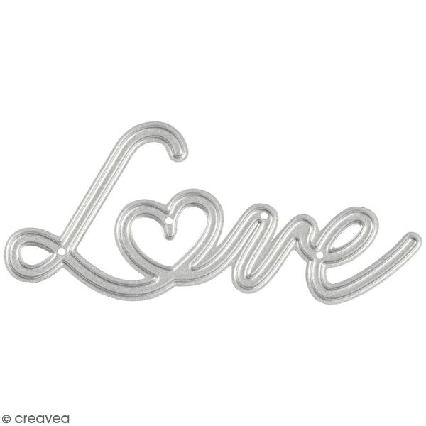 Matrice de coupe Creotime - Love - 3 x 6,9 cm - 1 Pce - Photo n°1