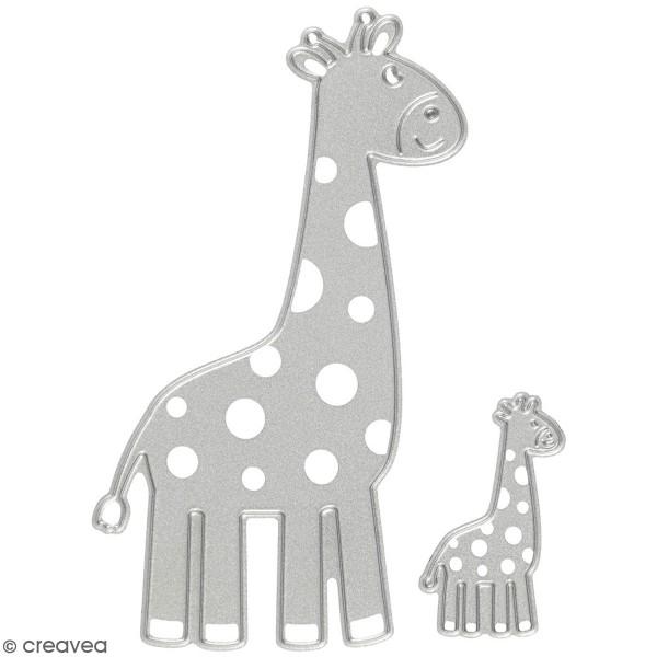 Matrice de coupe Creotime - Girafe - 9,2 x 5,4 cm et 3,5 x 2,1 cm Environ - 2 Pcs - Photo n°1