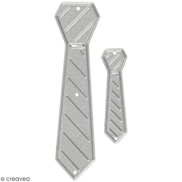 Matrice de coupe Creotime - Cravates - 6,2 x 1,7cm Environ - 2 Pcs - Photo n°1