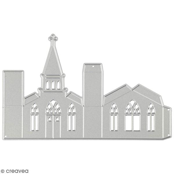 Matrice de coupe Creotime - Eglise 3D - 13,5 x 8,5 cm  - 1 Pce - Photo n°1