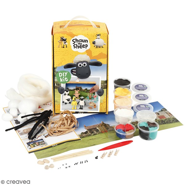 Kit activité enfant - Modelage Ferme de Shaun le mouton - Photo n°1