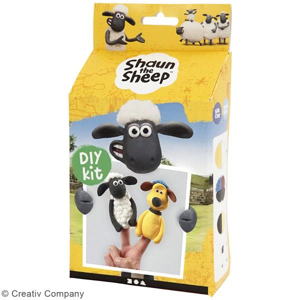 Kit modelage Silk Clay Shaun le mouton - Marionnettes à doigt - Photo n°3