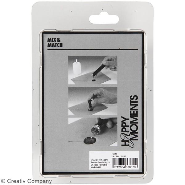 Kit de cire à cacheter - Doré - Motifs couronne de feuilles - 2 pcs - Photo n°3