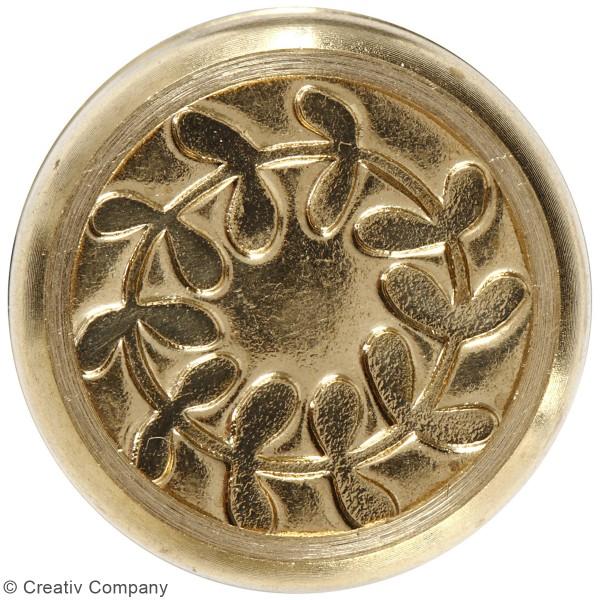 Kit de cire à cacheter - Doré - Motifs couronne de feuilles - 2 pcs - Photo n°4