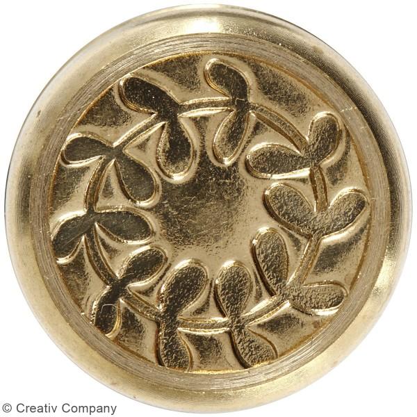 Kit de cire à cacheter - Rose - Motifs couronne de feuilles - 3 pcs - Photo n°4