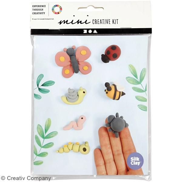 Kit créatif modelage Silk Clay - Insectes du jardin - Photo n°2
